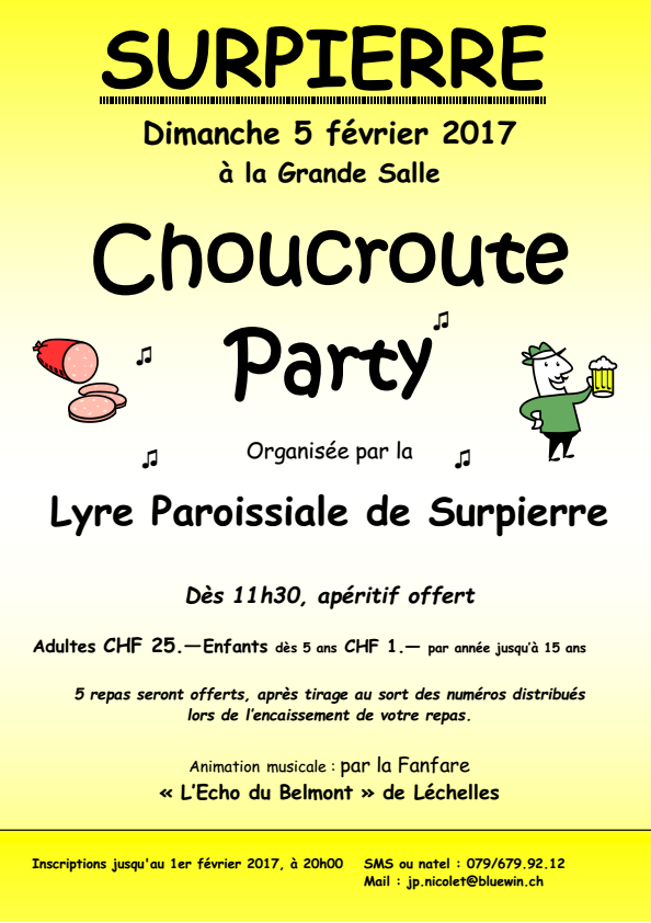 Flyer choucroute 2017